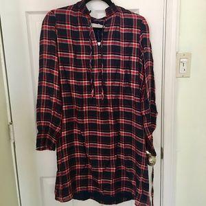 NWT Ann Taylor LOFT Plaid Shirt Dress